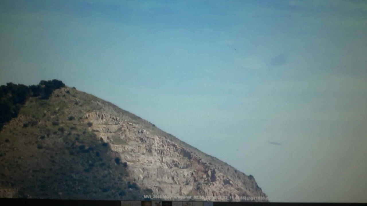 AVVISTAMENTO UFO A PALERMO IL 23 APRILE 2015 ore 11,35 foto 1 BAGHERIA