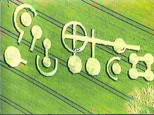GRASDORF CROP CIRCLE E IL MISTERO DELLE PLACCHE DI METALLO 21 luglio 1991 foto 4 il crop