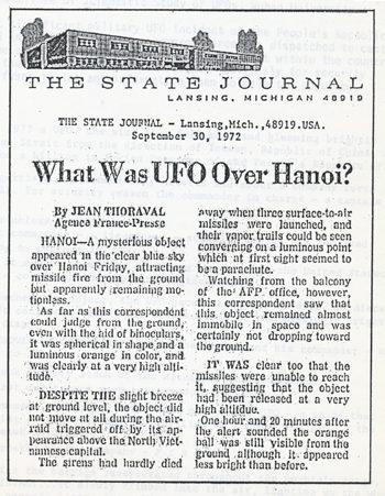 HANOI ANNO 1965 ATTACCO UFO NEL VIETNAM