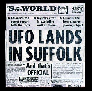 NUOVE RIVELAZIONI CASO UFO DI RENDLESHAM 26-28 DIC. 1980