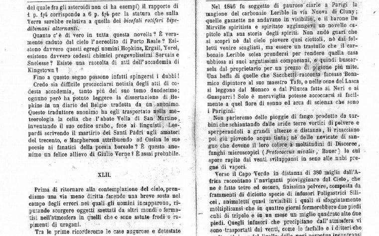 RESOCONTO UFO RISALENTE AL 1862