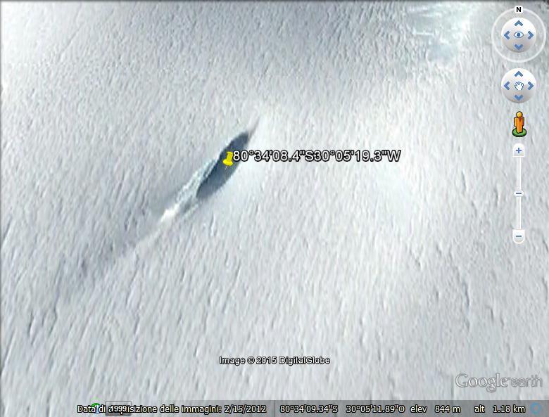 POLO SUD UFO CRASH SCOPERTO CON GOOGLE MAPS