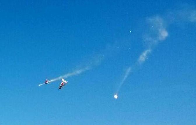 RIPRESI 2 UFO DURANTE INCIDENTE AEREO NELL' ADRIATICO 31 maggio 2015 foto 1