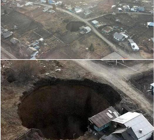 SINKHOLE IN KAZAKISTAN IL 07.04.2014