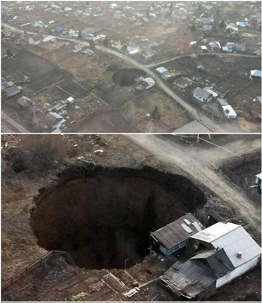 SINKHOLE KAZAKISTAN-RIDDEN 07.04.2014
