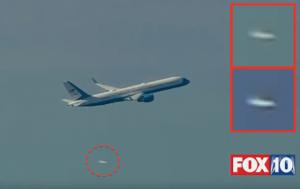 TRUMP E L'UFO CHE SEGUE IL SUO AEREO