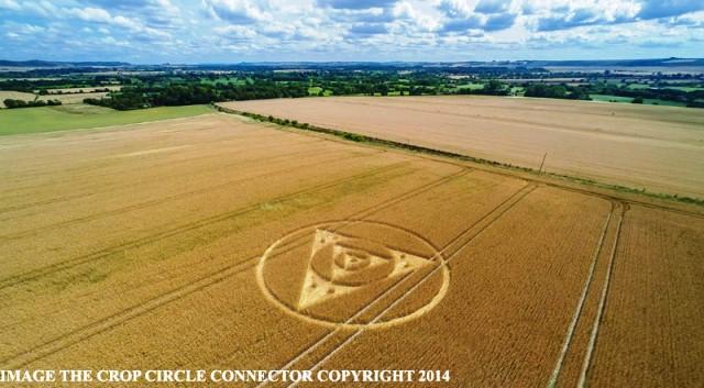 cerchio nel grano comparso nel wiltshire Etchilhampton-Hill il 27 luglio 2014 foto 3