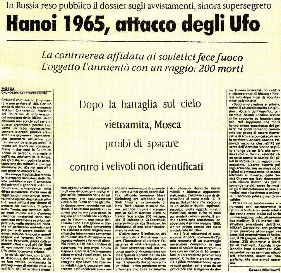 hanoi 1965 attacco degli ufo