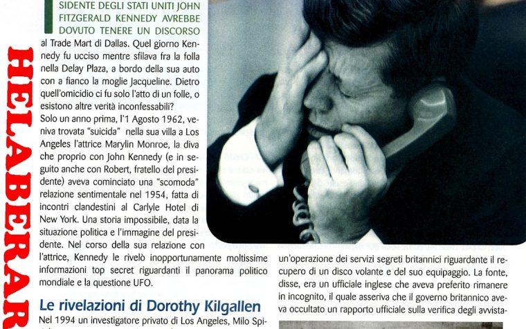 JOHN FITZGERALD KENNEDY E GLI X FILES UFO