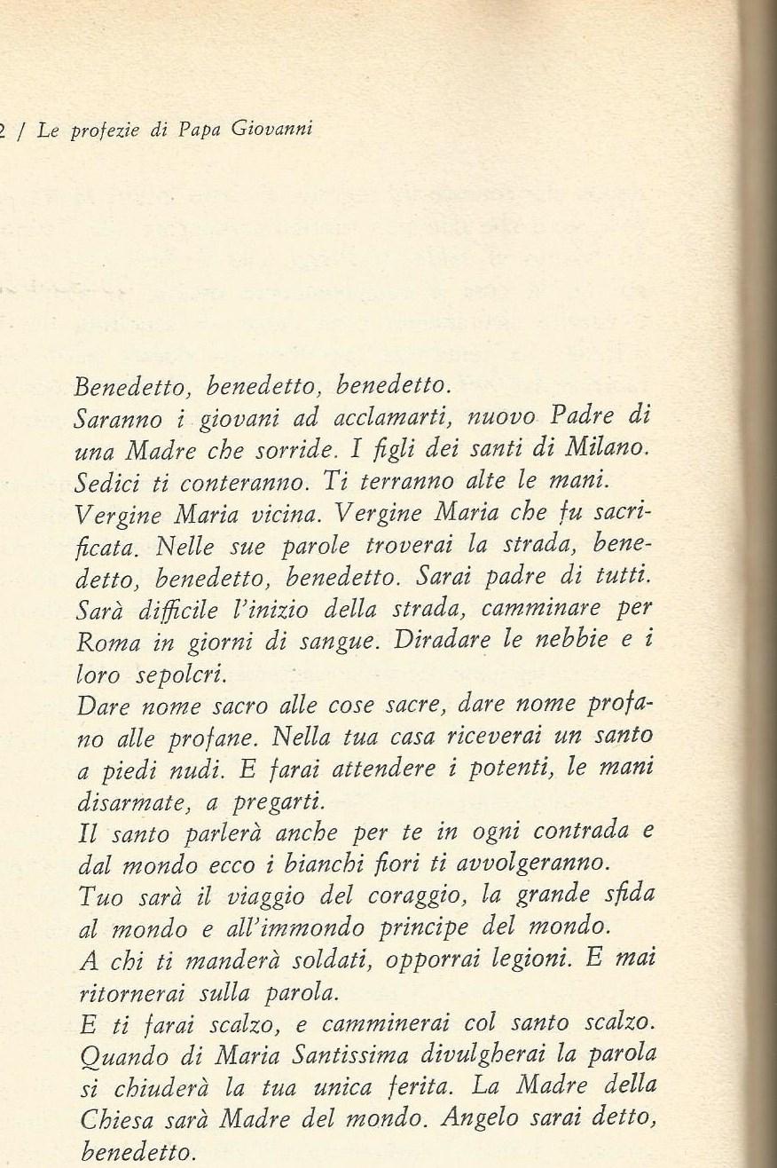 PAPA GIOVANNI XXIII E LE SUE PROFEZIE papa giovanni XXIII PROFEZIA 1