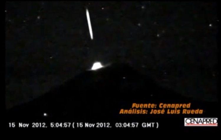 POPOCATEPETL FUORIESCE UFO 15 OTTOBRE 2012